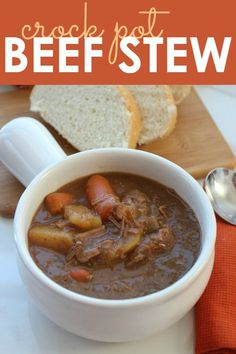 My mom makes a killer beef stew. If you have a busy schedule and are looking for a new Crock Pot Meal for your family, check out this Crock Pot Beef Stew Recipe! Slow Cooker Recipes, Beef Recipes, Soup Recipes, Cooking Recipes, Dinner Recipes, Healthy Cooking, Crock Pot Food, Crockpot Dishes, Gastronomia
