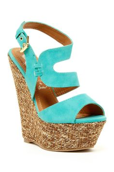 Bright Blue Wedges