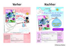 Vorher <-> Nachher: Optimierung der #Abowerbung für die #Zeitschrift  BabyMaschenmoden:  1/1-Anzeige, Heftwerbung, Response-Aktivierung über Coupon und Deeplink, Angebot: Jahresabo plus 1 Heft gratis I © Montana Medien, Hamburg - August 2013 I Bestellen Sie #BabyMaschenmoden unter: www.shop.oz-verlag.de./abo  #Direktmarketing, #Print, #Verlage, #CRM, #Abo-Marketing, #Montana Medien BERATUNG + #AGENTUR