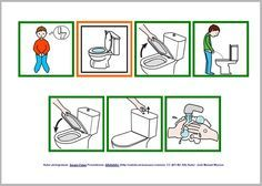 Rutinas para el baño con pictogramas de ARASAAC - Masculino Activities For Autistic Children, Preschool Learning Activities, Daily Schedule Preschool, Autism Crafts, Sequencing Pictures, Toilet Training, Class Decoration, Social Stories, Adhd
