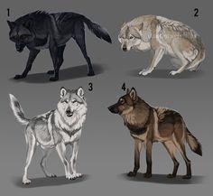 Wolf adopt batch auction: CLOSED by KFCemployee.deviantart.com on @DeviantArt