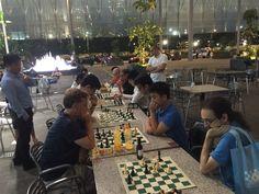 Chris and Jonathan at the chess club
