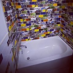This is a bathtub space that the Art of Board designers created for a private customer. They have taken the unique art of skateboards and translated it onto ...