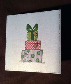 JOFY presents Christmas card Painted Christmas Cards, Christmas Arts And Crafts, Christmas Clay, Watercolor Christmas Cards, Homemade Christmas Cards, Christmas Drawing, Christmas Paintings, Watercolor Cards, Christmas Crafts