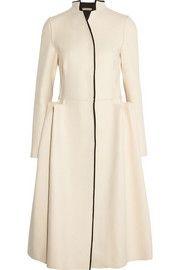 Bottega VenetaInverted-pleat wool and cashmere-blend coat