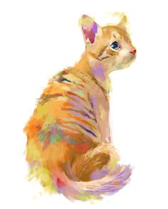 amazing cat painting ! I want it for the room of my daugther !!!