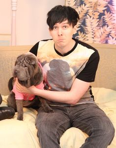 Phil from youtube channel AmazingPhil can someone get Phil a puppy I swear look at him he wants a puppy really bad