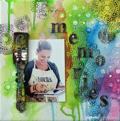 Nathalie Kalbach - I haven't done canvases with photos in a long time and I really had a lot of fun to create this super easy canvas for the Stampendous CHA booth for my new Stamp Set section :)