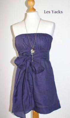 robe bustier - avec tissu soie/coton blanc grandes feuilles noires