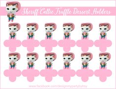 Design My Party - We specialize in Colorful, Whimsical, and Fabulous Candy Table Designs and Party Supplies. Chocolate Toppers, Sheriff Callie Birthday, Cupcake Toppers, Call Me, Hello Kitty, Candy, Handmade Gifts, Products, Sheriff