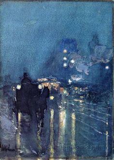 Nocturne, Railway Crossing, Chicago  Frederick Childe Hassam