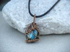 Labradorite wire wrapped pendant/Labradorite pendant/Gemstone necklace/ooak/gift her/valentine's day gift/Men's-women's jewelry by MagicAura on Etsy