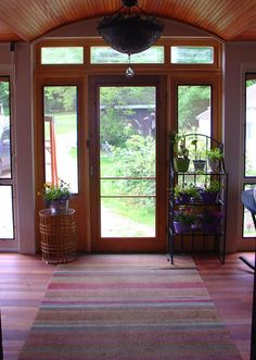 Traditional Porch Enclosure Systems Handcrafted from Solid Wood - YesterYear's Vintage Doors Front Door Porch, Porch Doors, Porch Entry, Front Doors, Front Porches, Vintage Screen Doors, Vintage Doors, Craftsman Porch, Craftsman Style Homes