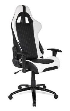 HJH OFFICE 625300 Racing Gaming Chair Sportsitz Monaco, schwarz-weiß