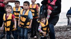 Refugees at Lesbos 2015 Refugee Crisis, Syrian Refugees, History, Boats, Google Search, Darkness, Dark, Historia, Ships