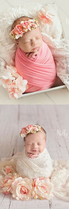 Simple yet detailed grapevine crown with delicate handmade paper flowers and foliage is the perfect accessory for your newborn photo session, blessing, or other special event. Newborn Flower Crown • Simple Crown • Bohemian Crown • Ivory Floral Crown • Dainty Floral Crown #babygirl #ad #babygirlclothes