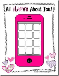 All iLove About You!  This 30 page file contains a variety of writing pages, techy design pages, printable Valentines, foldable cards, and even a craftivity. A variety of writing papers are included to meet the needs of K-6 students.