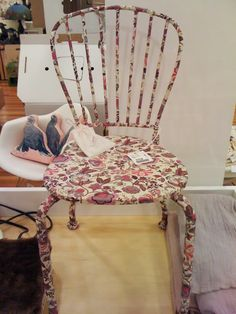 this chair is $10 at ikea - want to do this in a future kid's room with some cute japanese fabric