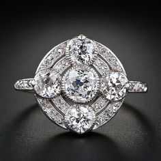 Circular diamond ring from the early 1900's. Lang Antiques archives.