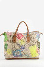 Ecote Neon Map Weekender Bag