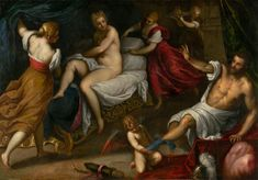 """""""Venus and Mars,"""" Palma il Giovane, about 1605 - 1609. Oil on canvas. J. Paul Getty Museum, Los Angeles, California 