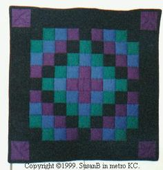 small Amish inspired Trip Around the World quilt Amische Quilts, Mini Quilts, Square Quilt, 9 Square, Barn Quilt Patterns, Quilting Designs, Quilting Ideas, Quilt Top, Needle And Thread
