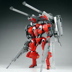 GUNDAM GUY: 1/144 Red Warrior Type Hyakuri - Customized Build