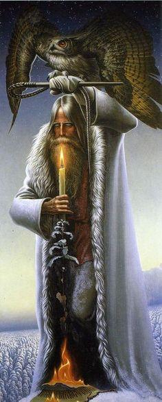 zhuzz:  Константин Васильев (Konstantin Vasilyev) - Человек с филином - Волхв (The man with the owl - Magus)