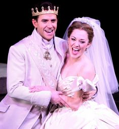Cinderella opening night curtain call - Laura Osnes and Santino Fontana Rodgers And Hammerstein's Cinderella, Cinderella Broadway, Broadway Theatre, Musical Theatre, Glass Slipper Cinderella, Theatre Nerds, Theater, Laura Osnes, Curtain Call