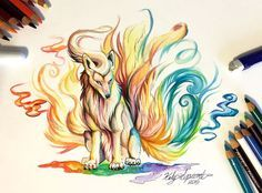 Wild Animal Spirits In Pencil And Marker Illustrations ~ Katy Lipscomb