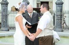 Weddings in Jackson Square New Orleans with Chaplain Jerry Schwehm