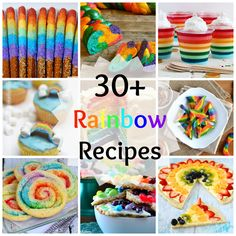 Over 30 rainbow recipes! Rainbow cake, rainbow cookies, rainbow bagels!