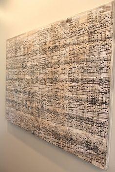 diy sheet music wall art