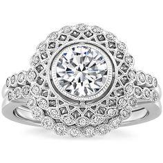 18K White Gold Alvadora Diamond Bridal Set