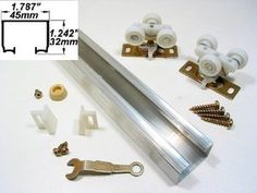 "100 Series Pocket Door Track & Hardware w/Nylon Rollers- 60"" by LE Johnson. $37.00. This 100 Series Pocket Door Track  & Hardware Kit with Nylon Rollers is a Single Track System which includes:  1- Aluminum Track 2- Nylon Rollers 2- Guides 1- Stop Wrench and Screws  **Supports up to:  125 pound Door  Track is installed with your own Header and Frame.  Aluminum Track can be easily trimmed to fit opening.  Nylon Tricycle rollers are designed for even weight distribution.   R..."