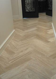Is Wood Look Tile too Trendy . is Wood Look Tile too Trendy . Entryway Tile Floor, Foyer Flooring, Oak Laminate Flooring, Flooring Ideas, Entry Way Tile, Kitchen Flooring, Herringbone Tile Floors, Travertine Floors, Stone Flooring