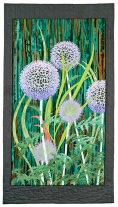 Globe Thistle, Aileyn Renli Ecob. In the Fantastic Fibers '14 exhibit at the Yeiser Art Center in Paducah, KY.