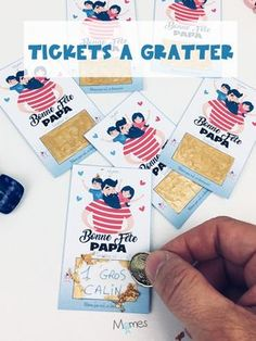Tickets à gratter Bonne fête Papa Dad loves surprises? So he will be spoiled thanks to our great scr Diy Father's Day Gifts, Father's Day Diy, Fathers Day Crafts, Happy Fathers Day, Diy For Kids, Crafts For Kids, Happy Birthday Papa, Papi, Activities For Kids