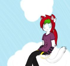 Just hanging out in the clouds by LauraTheKitty.deviantart.com on @deviantART