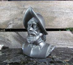 Spanish Conquistador Head Bust, Ornament Ceramic Figurine, Home Office & Farmhouse Decor, Accent Centerpiece, Vintage Urban Art by TheStorageChest on Etsy
