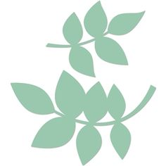 Silhouette Design Store - View Design #20423: rose leaves