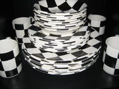 CHECKERBOARD DISHWARE!