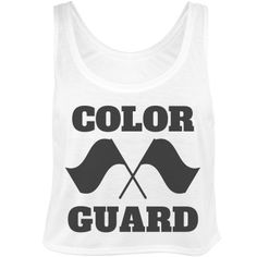 Color Guard Girls Shirts | Get everyone on the color guard team a crop top shirt to wear to marching band camp or drum corp practice. Rifles, flags, batons, sabers, whatever.