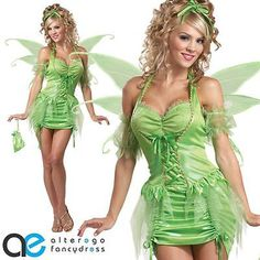 Ladies #adult tinkerbell fancy dress #costume fairy #disney fairytale outfit,  View more on the LINK: 	http://www.zeppy.io/product/gb/2/171916399096/