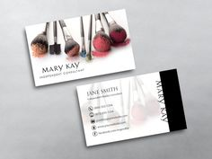 Custom Mary Kay business card printing for Mary Kay Independent Beauty Consultants. Design & print business card template online.
