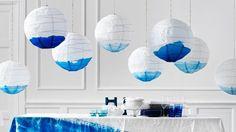 Table mariage bleu blanc
