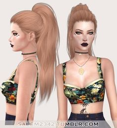 Salem2342: Stealthic`s  Paradox hair retextured for Sims 4