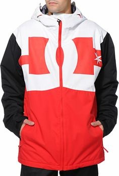 DC Billboard Red, White & Black 2014 Snowboard Jacket at Zumiez : PDP