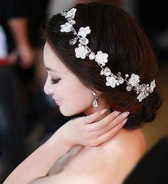 Bridal Hairband Headband Flower Garland hair claws wedding head pieces