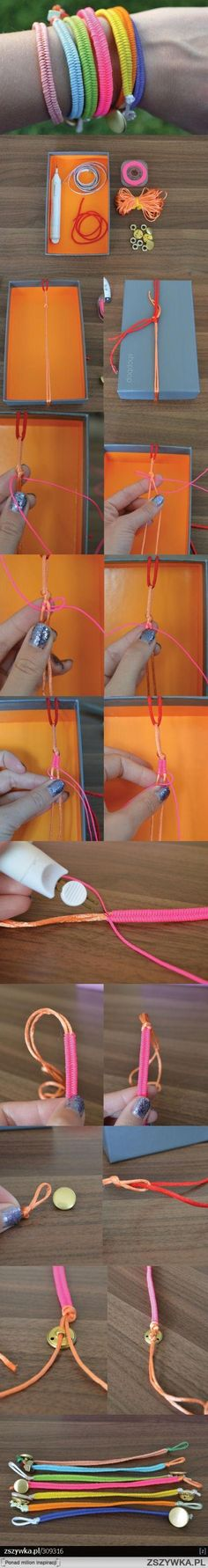 Colourful Summer Bracelets Tutorial